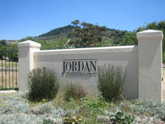 Entrance to Jordan Winery