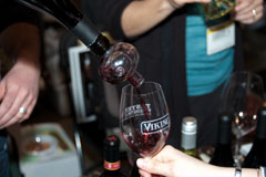 Pouring wine at Taste Washington