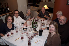 Wine Tasting Dinner crew at the table