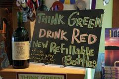 Think Green, Drink Red