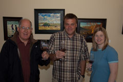 John, owner/winemaker Dave Stephenson of Stephenson Cellars, and Kori