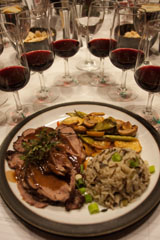 Washington Malbec paired well with leg of lamb