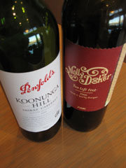 2006 Penfolds Koonunga Hill Shiraz Cabernet and 2006 Mollydooker Two Left Feet