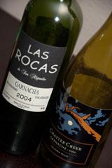 2004 Las Rocas de San Alejandro Garnacha and 2007 Chatter Creek Grenache