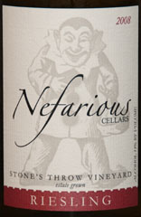 2008 Nefarious Stone's Throw Vineyard Riesling