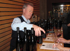 John Duval pouring his Sequel Syrah