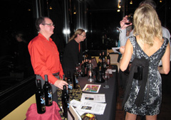 Owner/winemaker Gordy Rawson pours his Chatter Creek wines for Cabernet Classic attendees