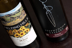 2005 Fielding Hills Merlot and 2005 Stephenson Cellars Merlot