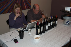 Kori and John participating in the Wines of Chile online tasting
