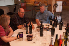 Kori and John tasting through wines with owner/winemaker Don Townshend of Townshend Cellar