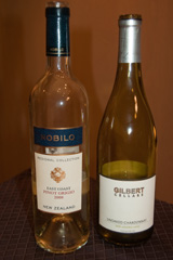 2008 Nobilo Pinot Grigio and 2008 Gilbert Cellars Unoaked Chardonnay
