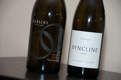 2007 Kerloo Cellars Les Collines Syrah and 2007 Syncline Syrah