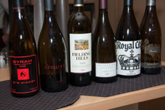 Lineup of Washington Syrahs, 2006 vintage
