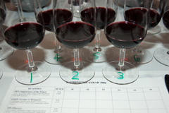 Glasses and tasting sheet for Wine Tasting Dinner