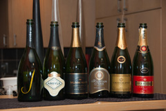 Lineup of Brut Sparkling Wine