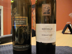 2002 Columbia Crest Walter Clore Private Reserve and 2001 Sebastiani Secolo Sonoma Red Wine
