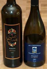 2005 Schild Estate Shiraz and 2005 Kilikanoon Testament Shiraz