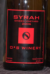2006 O*S Winery Dineen Vineyard Syrah