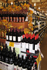 Wines at a local wine retailer