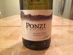 2014 Ponzi Pinot Gris