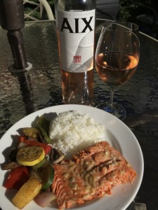 2014 Domaine Saint Aix Rosé paired with grilled salmon